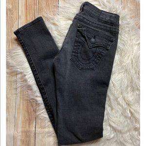 True Religion Black Distressed Julie Jeans